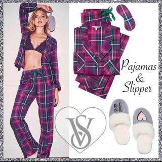 ヴィクトリアズシークレット(Victoria's Secret)の新品♡VS♡パジャマ&アイマスク&おまけスリッパ♡ピンク系(パジャマ)