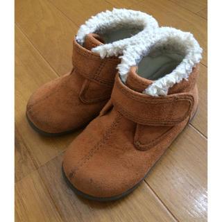 ムジルシリョウヒン(MUJI (無印良品))の無印良品 ボアブーツ 14cm ブラウン(ブーツ)