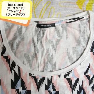 ローズバッド(ROSE BUD)のROSE BUD(ローズバッド)❇️Tシャツ🔸AラインTシャツ (F)🌠(Tシャツ(半袖/袖なし))