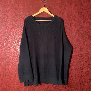 ハレ(HARE)の【希少】 HARE ダメージ ニット damage  knit Black(ニット/セーター)