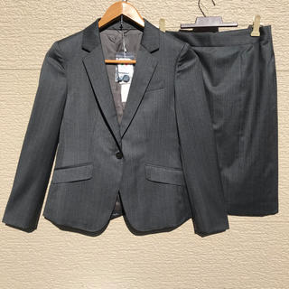 ニジュウサンク(23区)の新品 23区 スーツ セットアップ ジャケット スカート グレー 34(スーツ)