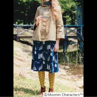 シロップ(syrup.)のムーミン フェリシモ シロップ スカート Sサイズ ブルー(ひざ丈スカート)