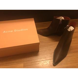 アクネ(ACNE)のacne studios アンクルブーツ ブラウン 新品未使用(ブーツ)