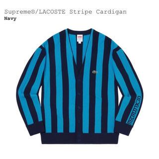 シュプリーム(Supreme)のSupreme®/LACOSTE Stripe Cardigan Navy XL(カーディガン)
