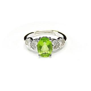 AAAAペリドット指輪リング銀925天然石11号石街U0180(リング(指輪))