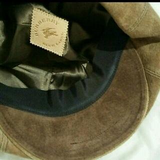 バーバリー(BURBERRY)のBURBERRY⭐スウェード ハンチング(ハンチング/ベレー帽)