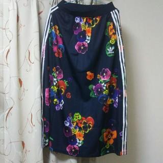 アディダス(adidas)のアディダス ロングスカート 花柄 パンジー アディダスオリジナルス(ロングスカート)
