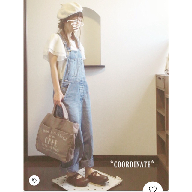 LOWRYS FARM(ローリーズファーム)のLOWRYS FARM コットンソデシフォンプルオーバーショートスリーブ レディースのトップス(カットソー(半袖/袖なし))の商品写真