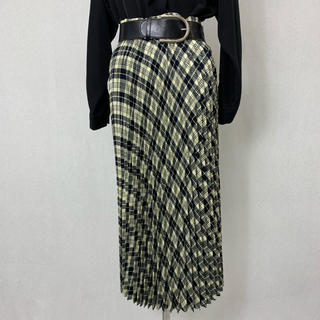 S360 used checked pleats long skirt(ロングスカート)