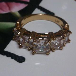 15号 キュービックダイアモンドゴールドリング(リング(指輪))