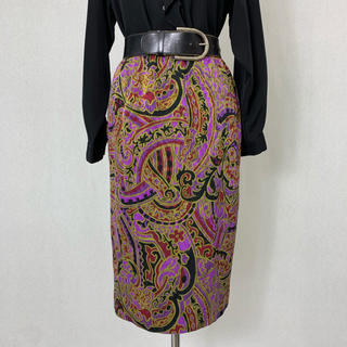 S361 used oriental skirt(ひざ丈スカート)