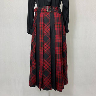 S362 used checked mix long skirt(ロングスカート)