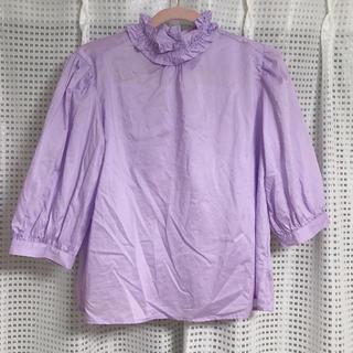 メルロー(merlot)のハイネックブラウス(シャツ/ブラウス(半袖/袖なし))
