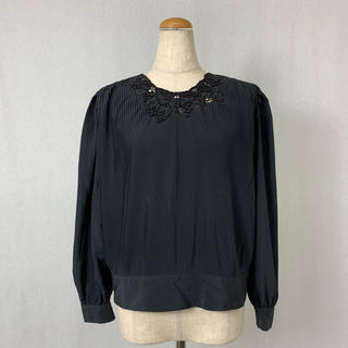 ●S364 used pleats classical tops(カットソー(長袖/七分))