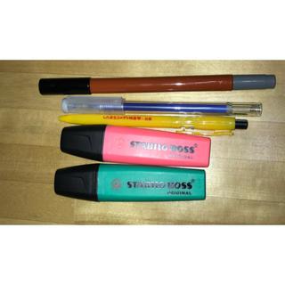 ムジルシリョウヒン(MUJI (無印良品))のSTABILO BOSSしたまちコメディぺン、筆ペン (ペン/マーカー)