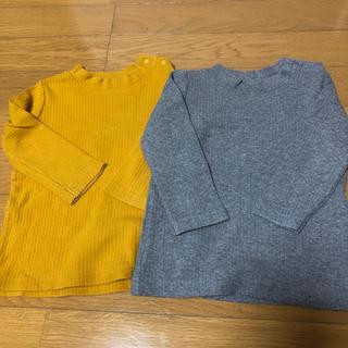 ユニクロ(UNIQLO)のユニクロ リブ 長袖 2枚セット 80(ニット/セーター)