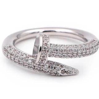 カルティエ(Cartier)の釘リング 最高級ジルコニアリング 三色(リング(指輪))