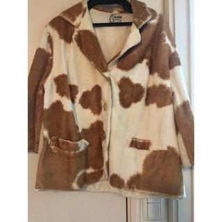 エディットフォールル(EDIT.FOR LULU)のヴィンテージ   牛柄 ジャケット(テーラードジャケット)