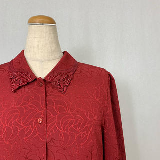 ●S379 used classical shirt red(シャツ/ブラウス(長袖/七分))