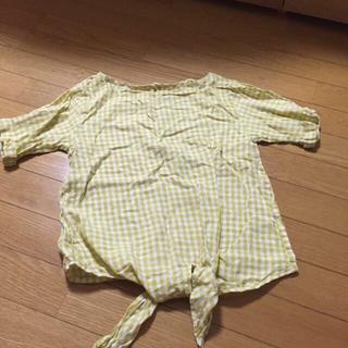 ジーユー(GU)のgu リネンブラウス(シャツ/ブラウス(半袖/袖なし))