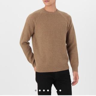 ムジルシリョウヒン(MUJI (無印良品))の無印良品 メンズ メリノウールワッフル編みクルーネックセーター(ニット/セーター)
