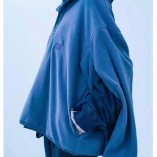 サンシー(SUNSEA)のOver Sleeve Slash Fleece Jacket stein M(ブルゾン)