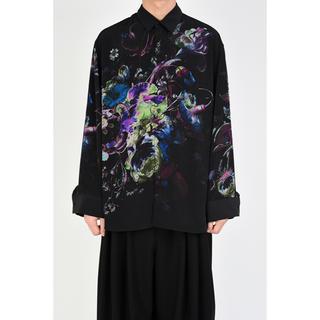 ラッドミュージシャン(LAD MUSICIAN)の【新品】ラッドミュージシャン 42 ビッグシャツ パープル 花柄 19AW(シャツ)