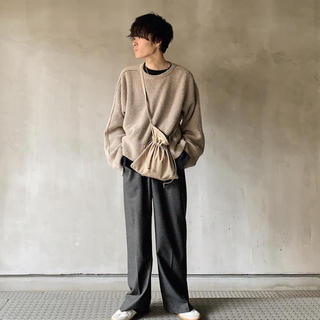 7G ALPACA WOOL CARDIGAN RIB STITCH KNIT(ニット/セーター)