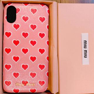 ミュウミュウ(miumiu)のmiumiu iPhonexs ケース(iPhoneケース)