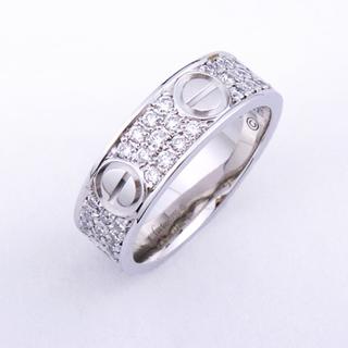 カルティエ(Cartier)の本物 カルティエ WG ラブリング パヴェ ダイヤ #50 10号 ダイア(リング(指輪))