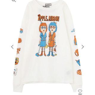 ジュエティ(jouetie)のジュエティ TM Paint APPLE RIBBON ロンTEE(Tシャツ(長袖/七分))