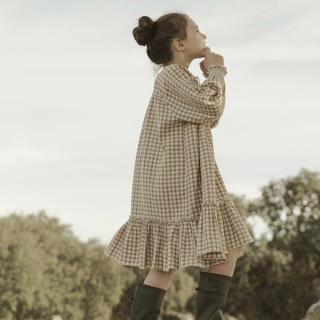 キャラメルベビー&チャイルド(Caramel baby&child )の19AW liilu Smoked Dress Check 4-6y(ワンピース)