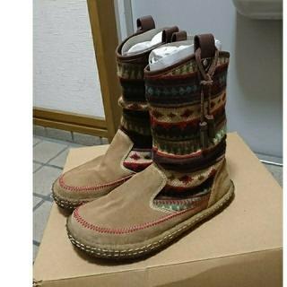 Indian - indian ブーツ ベージュ系 23.0cm