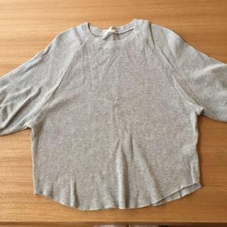 ジーユー(GU)のGUワッフルラグランスリーブT(カットソー(半袖/袖なし))