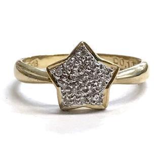 K18 K18WG ダイヤモンド デザインリング 3.3g 指輪 15号 星型 (リング(指輪))
