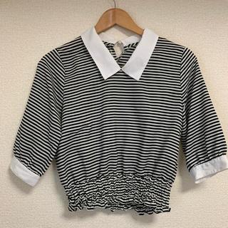 ムルーア(MURUA)のMURUA ボーダーシャツ(ショート丈・七分袖)(Tシャツ(長袖/七分))