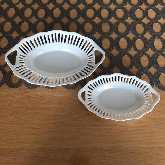 quatre saisons(キャトルセゾン)の陶器レーストレイ2個セット インテリア/住まい/日用品のキッチン/食器(食器)の商品写真