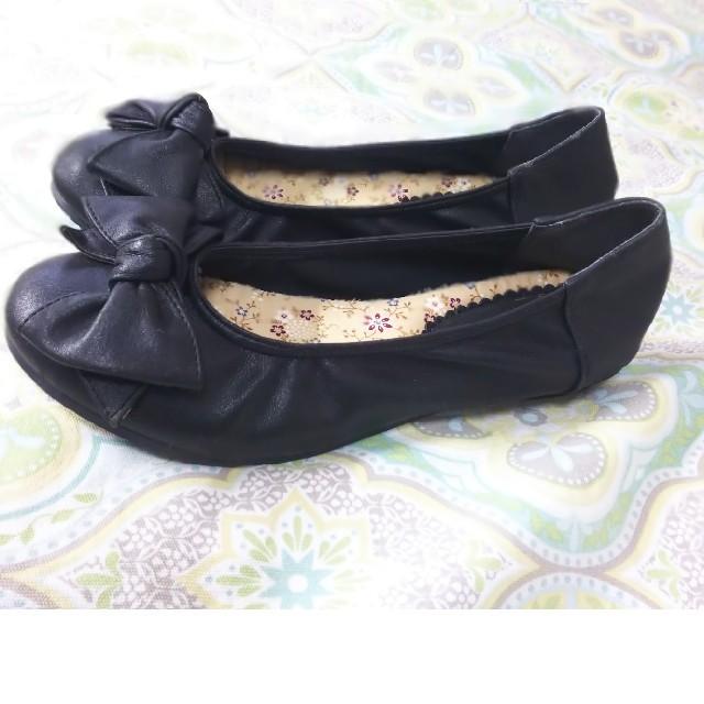 しまむら(シマムラ)の新品未使用 パンプス リボン レディースの靴/シューズ(ハイヒール/パンプス)の商品写真