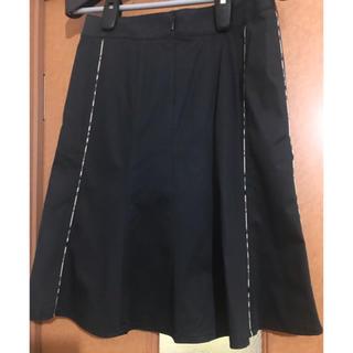 バーバリー(BURBERRY)のバーバリーロンドン スカート ブラック×バーバリーチェック(ひざ丈スカート)