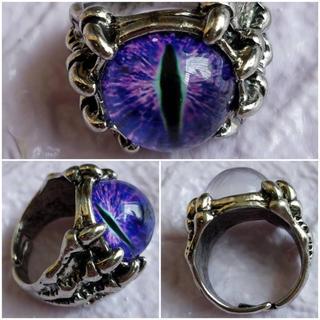 アクセサリー 目玉リング  指輪 レディース小物 メンズ パンク V系 ロック(リング(指輪))