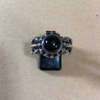 メンズ シルバー925 ブラックスター リング 19号(リング(指輪))