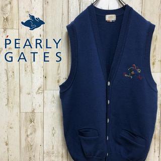 パーリーゲイツ(PEARLY GATES)の【激レア】 パーリーゲイツ ラビット刺繍 ニットベスト(ニット/セーター)