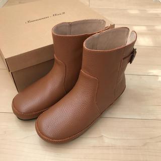 サマンサモスモス(SM2)の新品未使用 サマンサモスモス 牛革ブーツ(ブーツ)