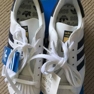 アディダス(adidas)の【新品】 23 白紺アディダス SUPERSTAR  034274(スニーカー)