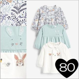 NEXT - *80*ウサギ & フローラル Tシャツ 3 枚組