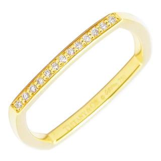 ティファニー(Tiffany & Co.)のティファニー トルクリング スクウェア 四角  ダイヤ  約8号(リング(指輪))