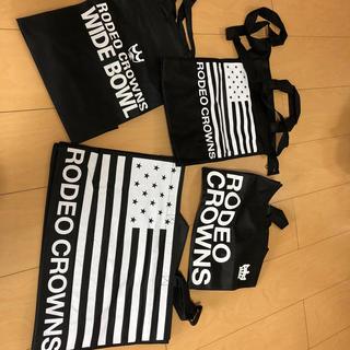 ロデオクラウンズワイドボウル(RODEO CROWNS WIDE BOWL)のロデオクラウンズ 旧ショップ袋 4枚セット(ショップ袋)