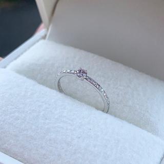 新品 ピンクダイヤモンド プラチナリング(リング(指輪))