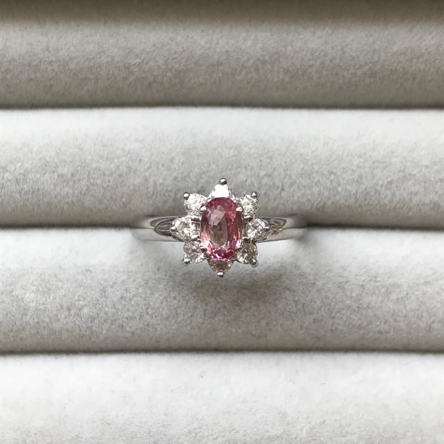 プラチナ ピンク サファイア ダイヤ リング レディースのアクセサリー(リング(指輪))の商品写真