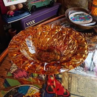 昭和レトロ  灰皿   アンバーガラス(灰皿)